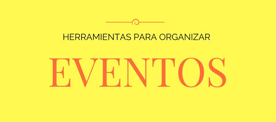 Herramientas para organizar eventos