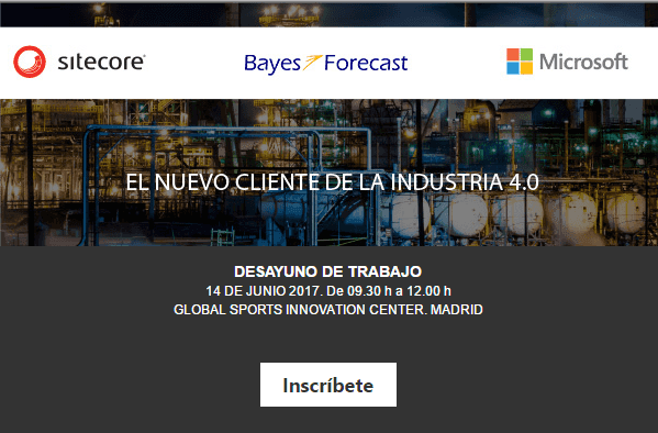 Evento Bayes Forecast, Sitecore y Microsoft Industria 4.0